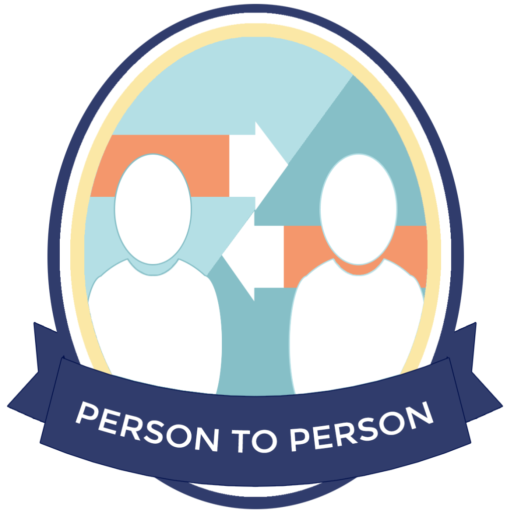 Badge: Person to Person